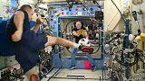 رائدي الفضاء أوليغ آرتيميف وأنتون شكابلروف على متن محطة الفضاء الدولية