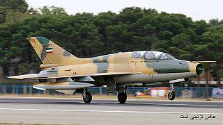 Iran Air Force Chengdu J-7 landing at Mehrabad International Airport