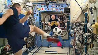 El Mundial de Fútbol ha llegado a la Estación Espacial Internacional