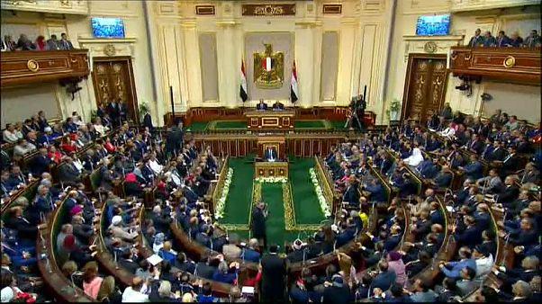 الرئيس المصري عبد الفتاح السيسي يؤدي القسم لتولي ولاية رئاسية ثانية
