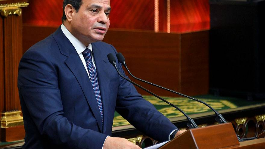Al-Sisi bei seiner Rede in Kairo