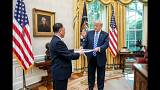 Trump receives a letter from North Korea's envoy
