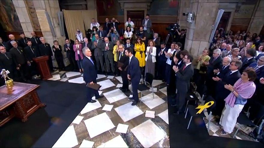 الحكومة الكتالونية الجديدة تؤدي اليمين وتؤكد التزامها باستقلال الإقليم