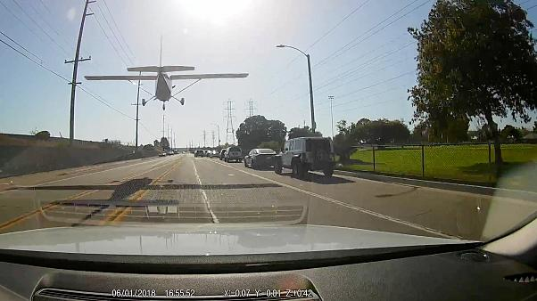 Plane makes emergency landing on California street