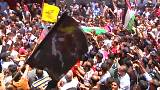 Protests resume after funeral of Palestinian nurse