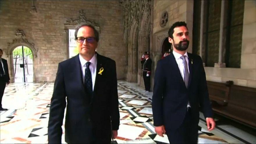 Katalonya'da bağımsızlık yanlısı Torra göreve başladı