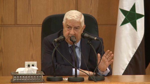 المعلم: لا وجود لقوات إيرانية في سوريا وعلى واشنطن الانسحاب من التنف