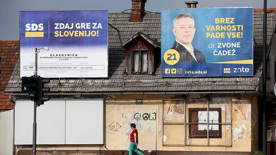 Wahlplakate in Ljubljana