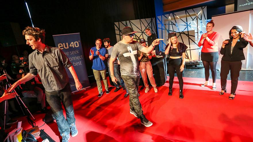 MEPs turn up for rap battle at European youth event