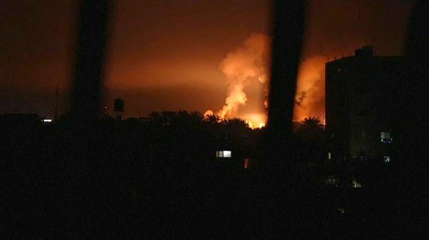 فيديو: ضربات جوية إسرائيلية على مواقع لحركة حماس بغزة