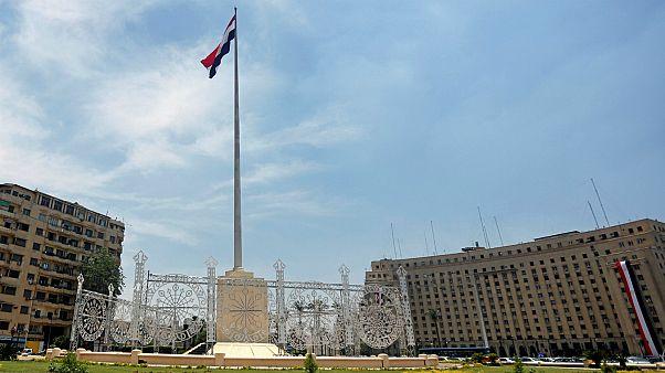 ميدان التحرير في القاهرة أثناء حفل تنصيب السيسي. تصوير عبدالله دالش، رويترز