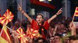 Συλλαλητήριο στα Σκόπια κατά της αλλαγής ονόματος