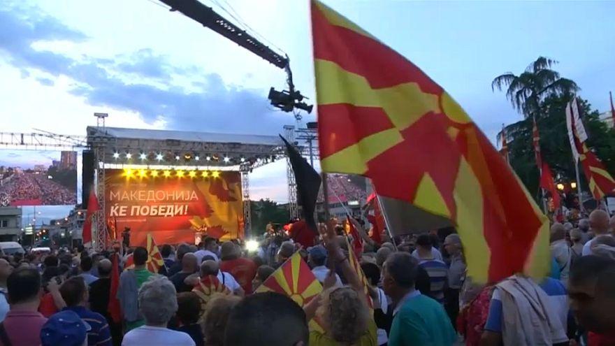 Pulso contra el gobierno de la derecha nacionalista macedonia
