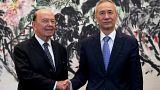 """Commerce : rencontre """"franche"""" entre dirigeants chinois et américain"""