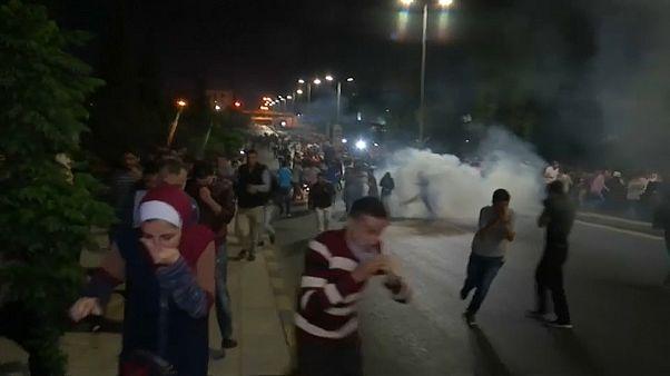 Terceira noite de protestos em Amã