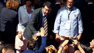 Salvini returns to campaign trail