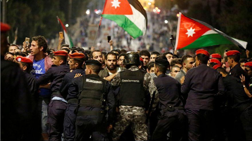 تظاهرات در امان پایتخت اردن