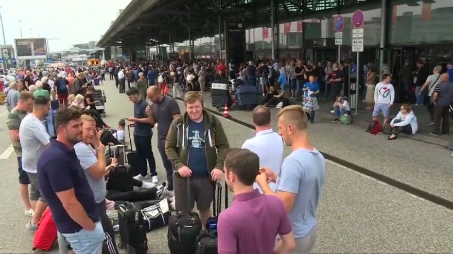 El aeropuerto de Hamburgo paralizado por un corte eléctrico