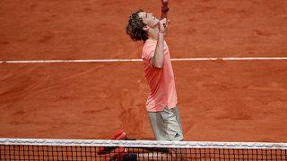 Alexander Zverev nach seinem Sieg im Achtelfinale