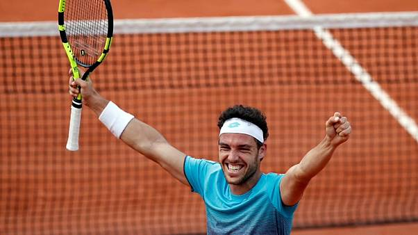 All smiles for Cecchinato as he joins big boys in French quarter-finals