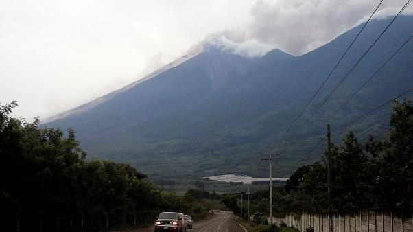 Guatemala Fuego volcano erupts