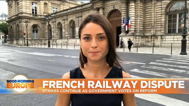 France: Railway workers strike continues as government prepares to vote on reforms