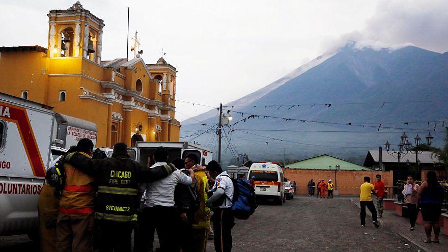 Volcano and prayers guatemala