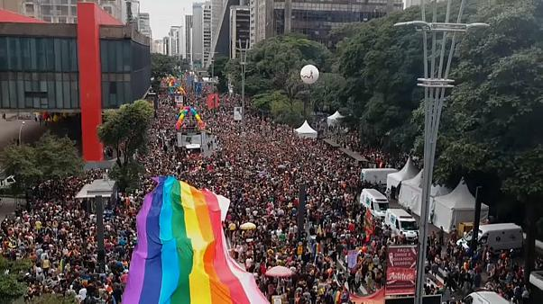 В Сан-Паулу прошел гей-парад