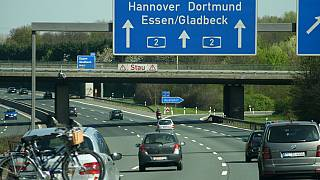 Eine Autobahn in Deutschland.