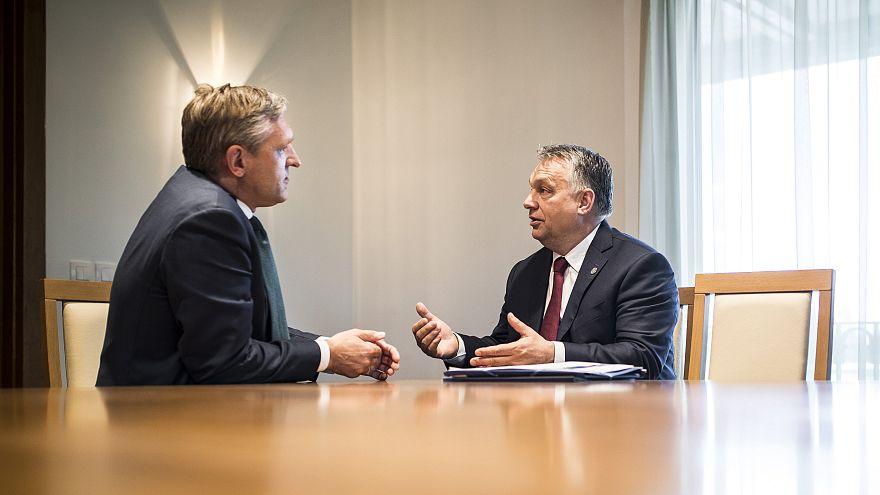 Orbán Viktor és Sybrand van Haersma Buma a Fidesz és a CDA elnöke