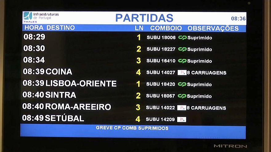 Comboios parados em Portugal