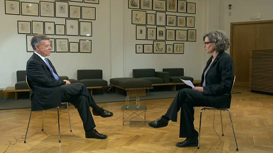Juan Manuel Santos entrevistado por Ana Lázaro Bosch