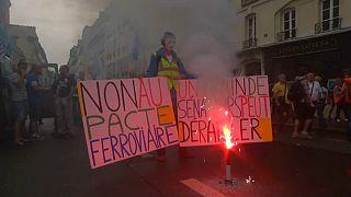 """""""Día D"""" para la polémica reforma ferroviaria francesa"""