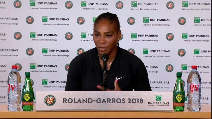 Serena Williams se retira de Roland Garros