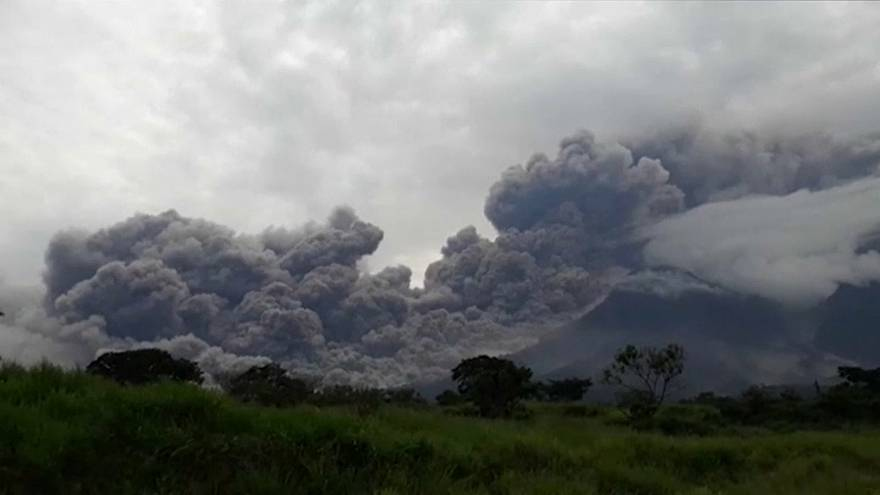 Guatemala volcano blankets nearby villages with ash
