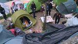 Ликвидация лагеря мигрантов в Париже