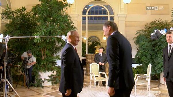 Vladimir Poutine en Autriche