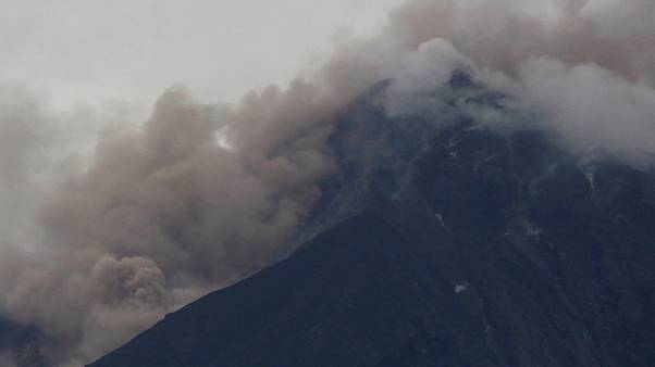 Fuego volcano is seen after a violent eruption, in Guatemala
