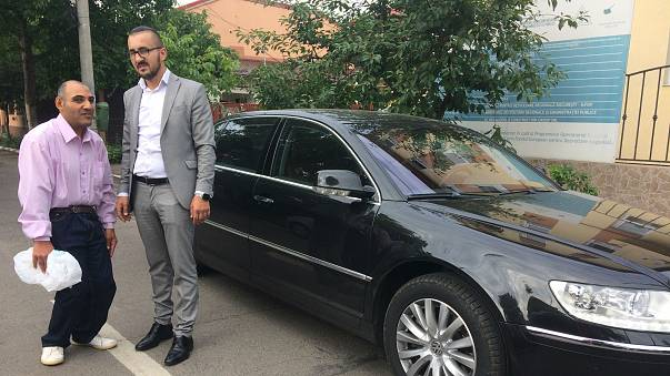 Alex Bobes of Taxi Gratis and Daniel Ianos