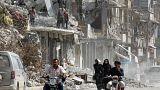 جانب من الدمار الذي طال الرقة خلال معركة استعادتها من داعش