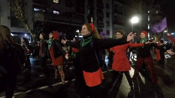 Thousands rally in Buenos Aires for women's abortion rights
