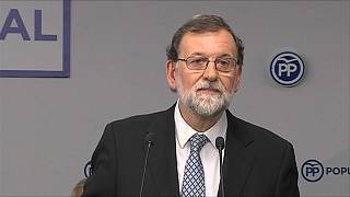 Mariano Rajoy en el momento de anunciar que deja la política
