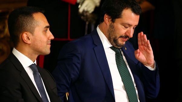Salvini gesturing