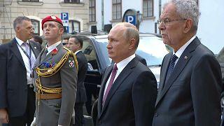 Wladimir Putin in Wien eingetroffen