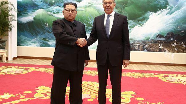 Kim Jong Un and Sergey Lavrov met on May 31, 2018 in Pyongyang.