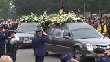 Multitudinario funeral de las dos policías asesinadas en Lieja