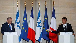 ماکرون در دیدار با نتانیاهو: تصمیم تازه ایران به معنی خروج از برجام نیست