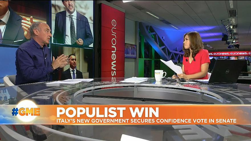 Italy's new populist government nears full confidence vote