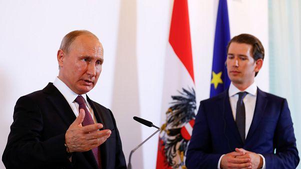 Putin hat sich auch mit dem österreichischen Kanzler Kurz ausgetauscht.
