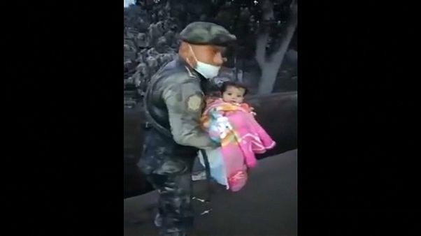 Un bebé rescatado del infierno en Guatemala